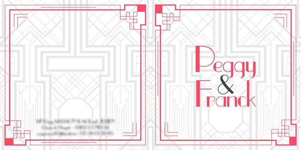 Faire-part Peggy et Franck- Mw communication - Graphiste Webmaster Montauban Toulouse