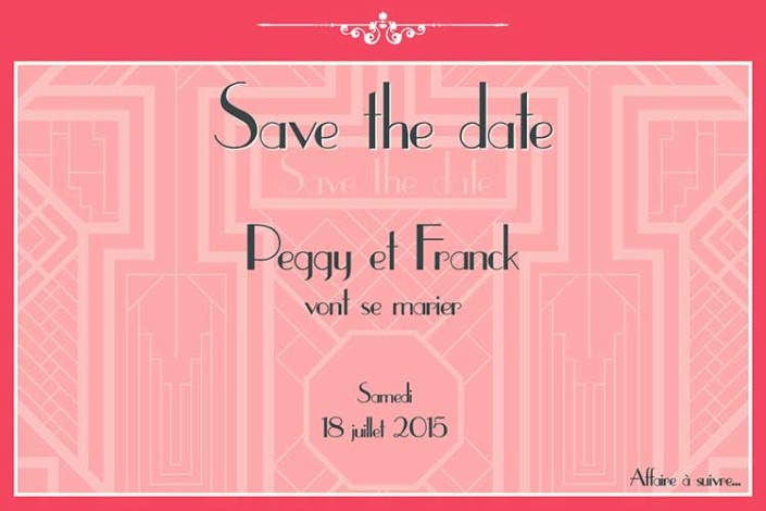 Save the Date Peggy et Franck- Mw communication - Graphiste Webmaster Montauban Toulouse