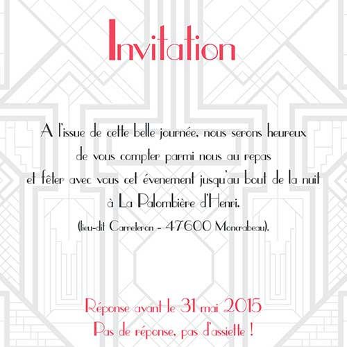 Invitation Peggy et Franck- Mw communication - Graphiste Webmaster Montauban Toulouse