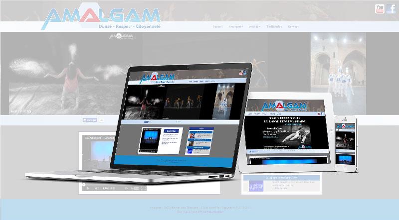 Site internet Amalgam -Mw communication - Graphiste Webmaster Montauban Toulouse