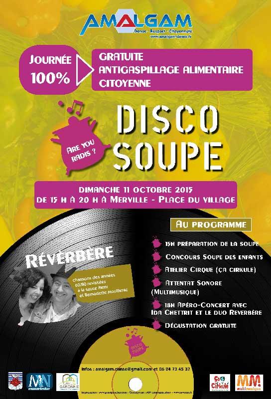 Affiche Discosoupe - Mw communication - Graphiste Webmaster Montauban Toulouse