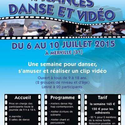 Affiche danse et vidéo MW communication