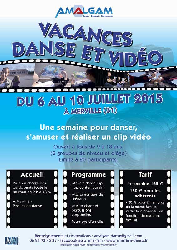 Affiche danse et vidéo - Mw communication - Graphiste Webmaster Montauban Toulouse