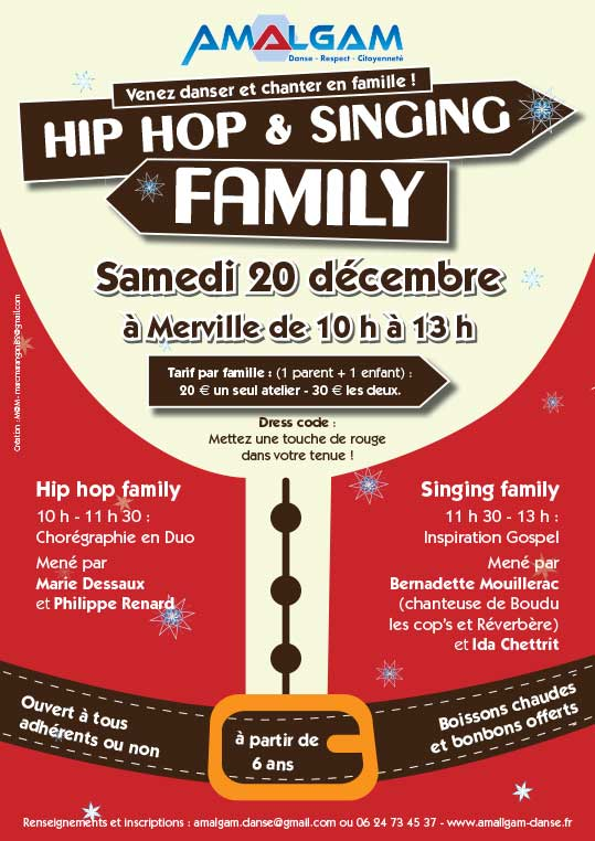 Affiche hiphop-singing-family - Mw communication - Graphiste Webmaster Montauban Toulouse