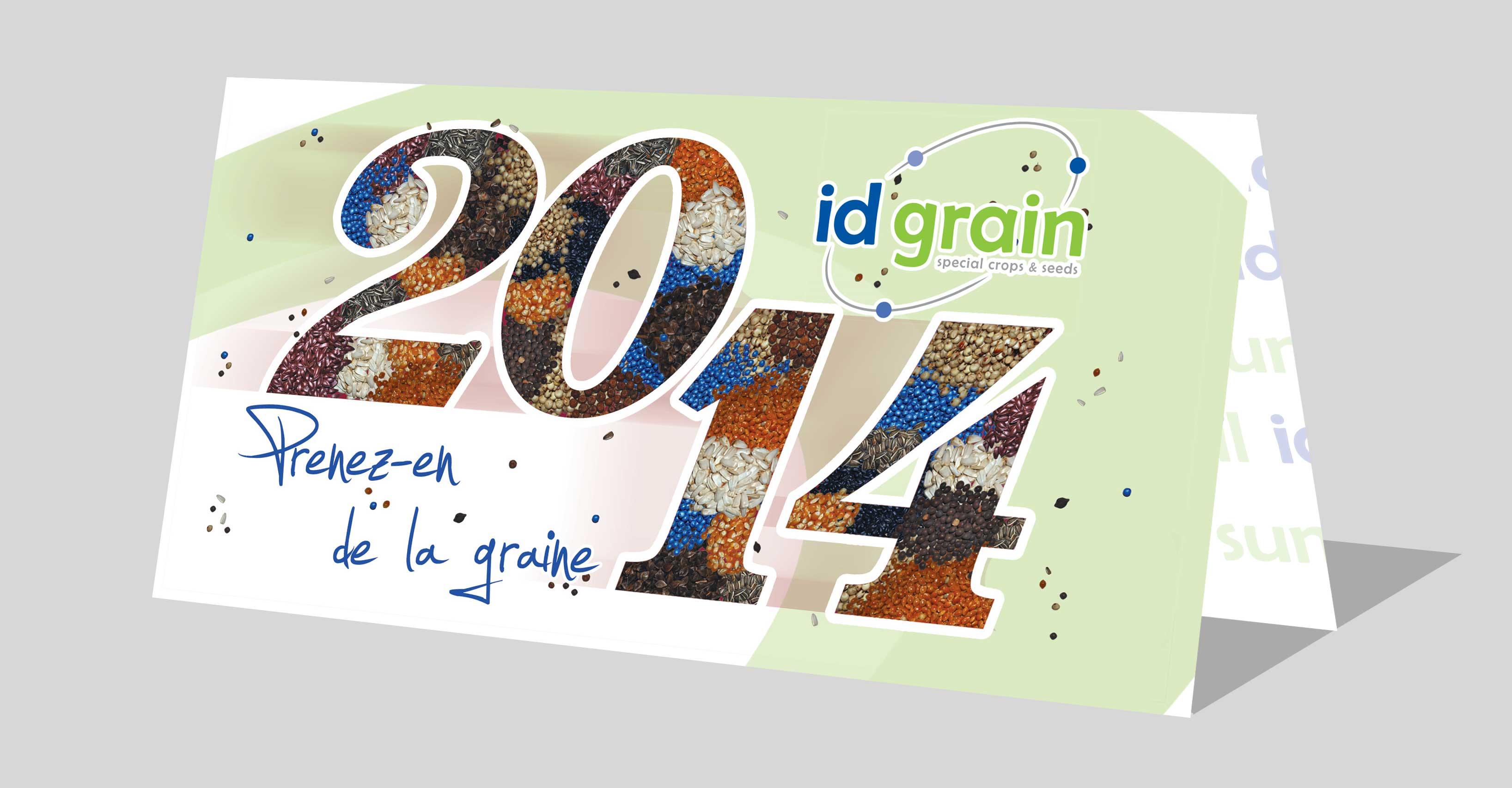 Carte de voeux Id grain - - Mw communication - Graphiste Webmaster Montauban Toulouse