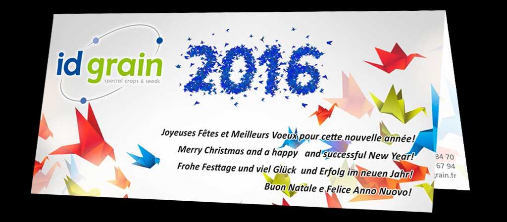 Carte de voeux 2016 Id grain - - Mw communication - Graphiste Webmaster Montauban Toulouse