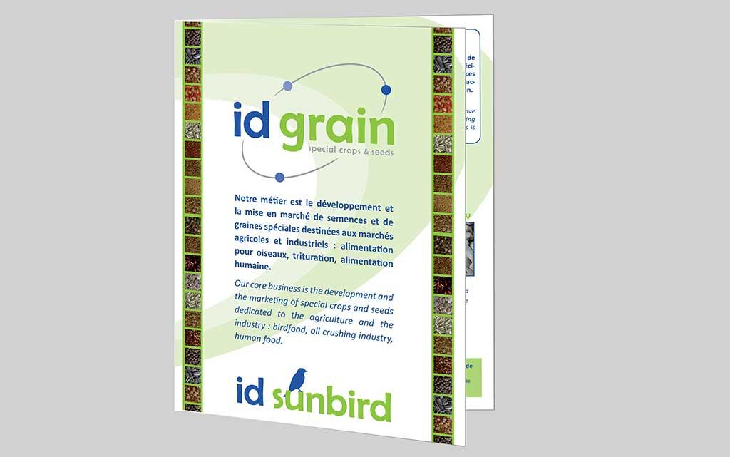 Dépliant Id Grain - - Mw communication - Graphiste Webmaster Montauban Toulouse