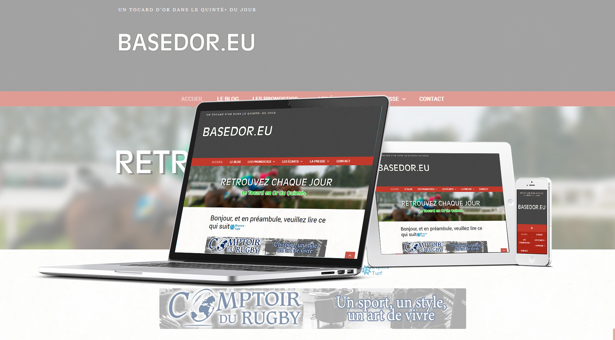 Site pronostic hippique basedor.eu - MW communicaton