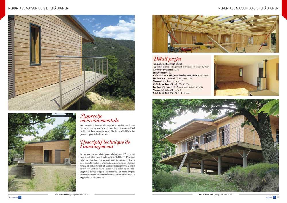 Eco maison Bois N°48- Mw communication - Graphiste Webmaster Montauban Toulouse