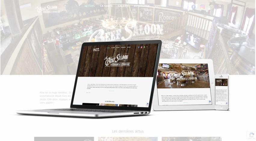 Site le Beef Saloon- Mw communication - Graphiste Webmaster Montauban Toulouse