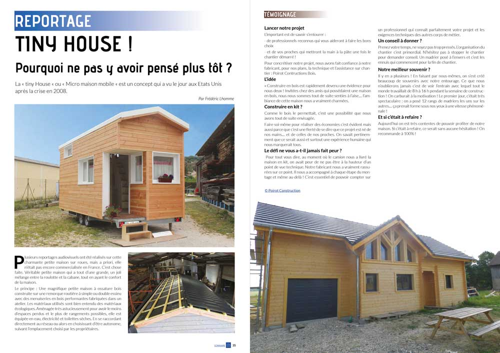 Eco Maison Bois n° 40 pages- Mw communication - Graphiste Webmaster Montauban Toulouse