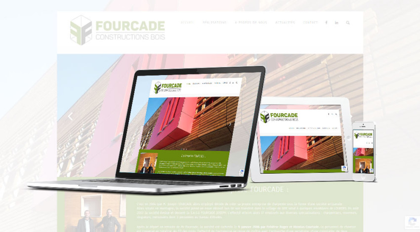 Charpentes Fourcade- Mw communication - Graphiste Webmaster Montauban Toulouse