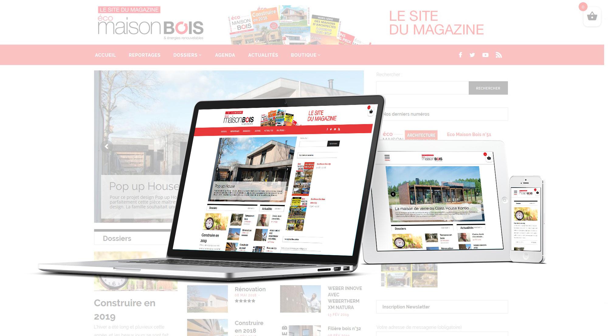 Eco maison Bois - Mw communication - Webmaster Montauban Toulouse