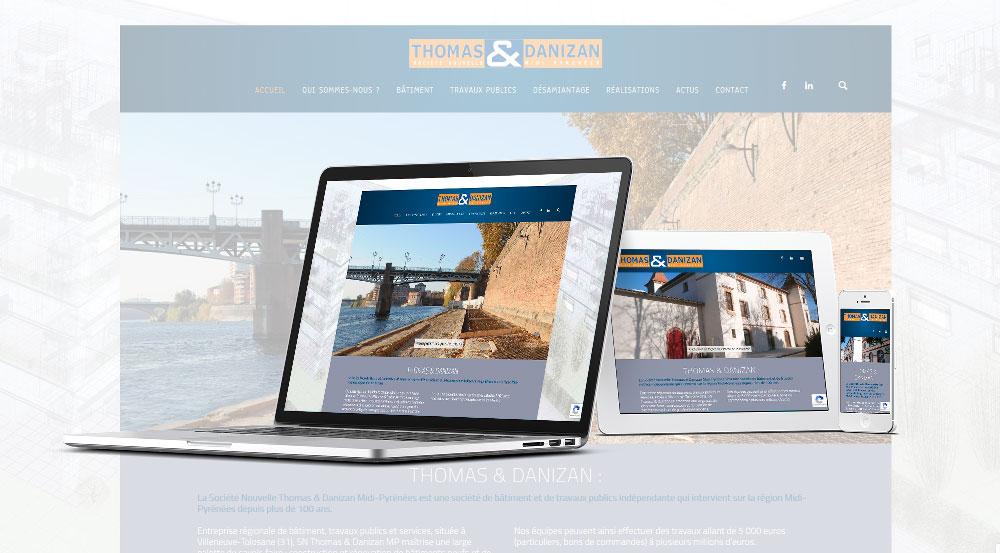 Création site Thomas et Danizan